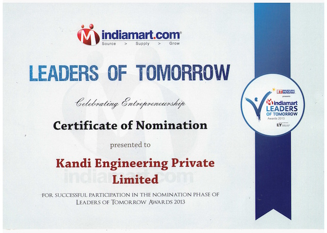 IndiaMart Award – Leaders of Tomorrow